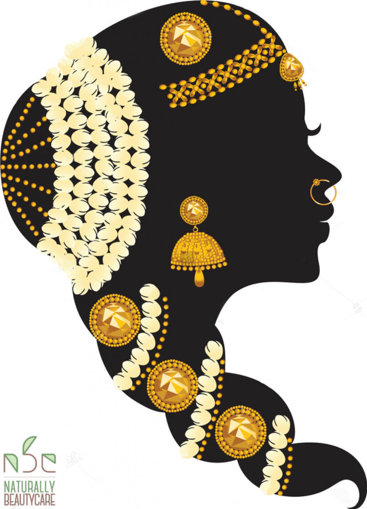 beautiful-indian-bridal-hairstyle-silhouette